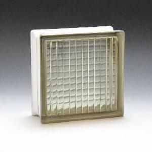 ガラスブロック サイズ 190×190×80 パラレルブラウン|obara-jyusetu