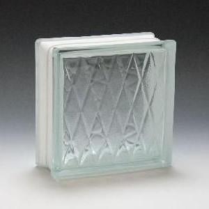 ガラスブロック サイズ 190×190×80 ダイヤモンド|obara-jyusetu