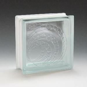 ガラスブロック サイズ 190×190×80 ニュームーン|obara-jyusetu