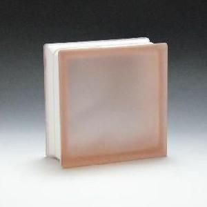 ガラスブロック サイズ 190×190×80 ミスティークラウディピンク|obara-jyusetu