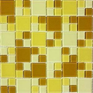 ガラスモザイクタイル タイルシート 20枚 キッチン 洗面所 obara-jyusetu