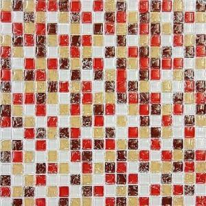 ガラスモザイクタイル タイルシート11枚 玄関 キッチン|obara-jyusetu