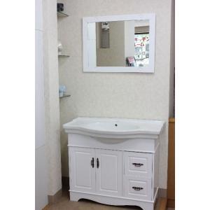 洗面台 洗面化粧台 幅1000  洗面器 収納 鏡 洗面化粧台ミラーセット|obara-jyusetu