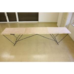作業台 折りたたみ テーブル ワークテーブル 万能作業台 折りたたみ作業台 幅2970×580|obara-jyusetu