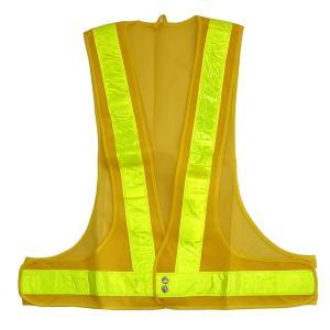安全ベスト 反射ベスト 黄メッシュ/黄ライン 反射ライン幅:50mm|obari