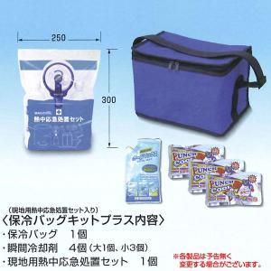 保冷バッグキットプラス 現地用熱中応急処置セット入り! 熱中症対策商品|obari