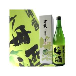 浦霞 本格焼酎につけた梅酒 720ml |obasaketen
