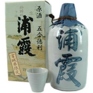 浦霞 原酒 五合徳利 900ml お猪口1個付 obasaketen