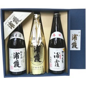 浦霞 辛口 純米酒 原酒 720ml 3本 日本酒飲み比べセット  |obasaketen