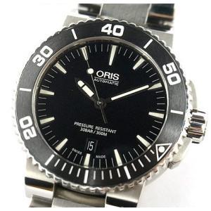 中古 美品 ORIS オリス アクイス デイト メンズ 腕時計 自動巻 01 733 7653 4154-07 4 26 34EB|obatays