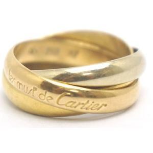 中古 安心価格 Cartier カルティエ トリニティ リング スリーゴールド 51号|obatays