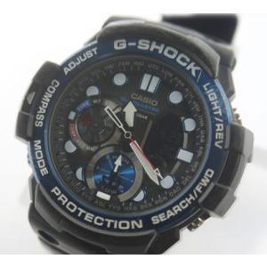 中古 安心価格 CASIO カシオ ガルフマスター メンズ 腕時計 電波クォーツ GN-1000B|obatays