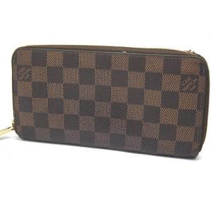中古 安心価格 Louis Vuitton ルイヴィトン ダミエ 長財布 ジッピーウオレット N60015|obatays