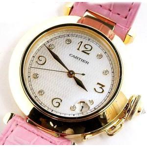 中古★美品★Cartier カルティエ レディース 腕時計 パシャ 8Pダイヤ K18YG 自動巻|obatays