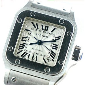 中古美品 Cartier カルティエ レディース腕時計 サントス ガルベ SM オートマチック 自動巻き W20054D6|obatays