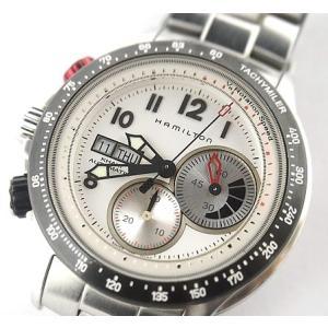 中古 訳あり HAMILTON ハミルトン メンズ クロノグラフ 腕時計 タキマイラー 自動巻 H71726213|obatays