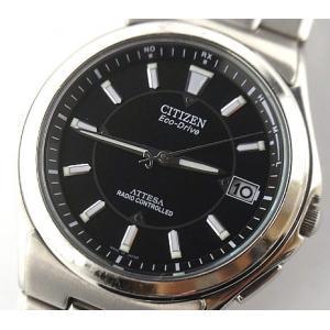中古 CITIZEN ATTESA シチズン・アテッサ メンズ腕時計 電波ソーラー チタン H110-T011331|obatays