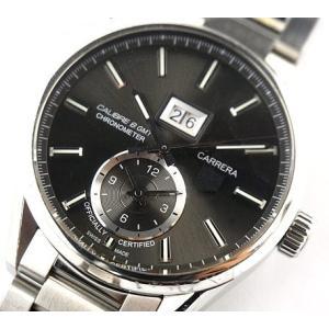 中古 訳あり TAG Heuer タグホイヤー メンズ 腕時計 カレラ キャリバー デイト GMT 自動巻 WAR5012|obatays