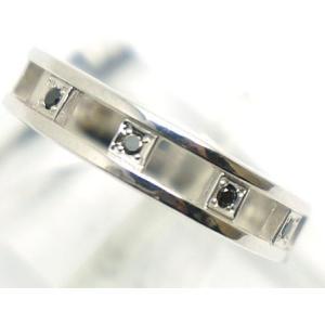 中古 美品 サマンサティアラ K10WG リング 15号 ブラックダイヤ 0.05 ジュエリー|obatays