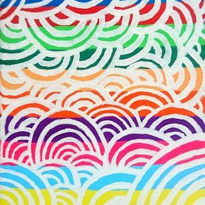 絵画 モダン アートパネル アート インテリア 雑貨 おしゃれ ロココロ 抽象画 画家 : ごま 作品 : 虹雲|obeolysco