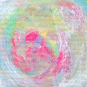 絵画 モダン アートパネル アート インテリア 雑貨 おしゃれ ロココロ 抽象画 画家 : ごま 作品 : しゃぼん玉。|obeolysco