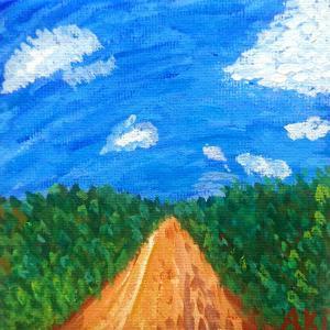 絵画 モダン アートパネル アート インテリア 雑貨 おしゃれ ロココロ 抽象画 画家 : ごま 作品 : 久高島|obeolysco