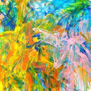 絵画 モダン アートパネル アート インテリア 雑貨 おしゃれ ロココロ 抽象画 画家 : tamajapan 作品 : t-20|obeolysco