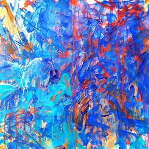絵画 モダン アートパネル アート インテリア 雑貨 おしゃれ ロココロ 抽象画 画家 : tamajapan 作品 : t-21|obeolysco