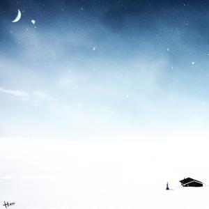 絵画 モダン アートパネル アート インテリア 雑貨 おしゃれ ロココロ イラスト 画家 : 志摩飛龍 作品 : snowy air obeolysco