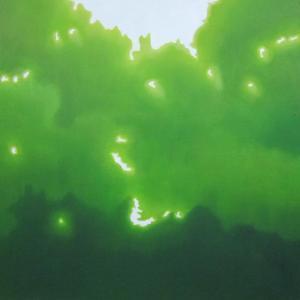 絵画 モダン アートパネル アート インテリア 雑貨 おしゃれ ロココロ 抽象画 現代アート 木洩れ日 木漏れ日 こもれび  画家 : 馬見塚 喜康 作品 : こもれびVII obeolysco