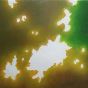絵画 モダン アートパネル アート インテリア 雑貨 おしゃれ ロココロ 抽象画 現代アート 木洩れ日 木漏れ日 こもれび  画家 : 馬見塚 喜康 作品 : こもれびVIII obeolysco
