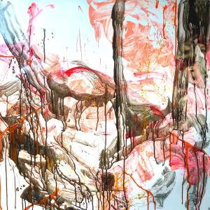 絵画 モダン アートパネル アート インテリア 雑貨 おしゃれ ロココロ 抽象画 画家 : tamajapan 作品 : t-22|obeolysco