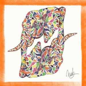 絵画 モダン アートパネル アート インテリア 雑貨 おしゃれ ロココロ 現代アート 象 ゾウ ぞう 動物 アニマル  画家 : nob 作品 : eleph|obeolysco