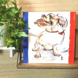 絵画 モダン アートパネル アート インテリア 雑貨 おしゃれ ロココロ 現代アート 犬 イヌ フレンチブルドッグ 動物 画家 : nob 作品 : Re:frenchie|obeolysco