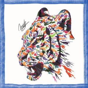 絵画 モダン アートパネル アート インテリア 雑貨 おしゃれ ロココロ 現代アート トラ 虎 とら タイガー 動物 アニマル 画家 : nob 作品 : tig|obeolysco