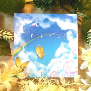 絵画 モダン アートパネル アート インテリア 雑貨 おしゃれ ロココロ 現代アート 蝶々 桜 空 画家 : Rin 作品 : 約束の空 obeolysco