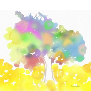 絵画 モダン アートパネル アート インテリア 雑貨 おしゃれ ロココロ 現代アート 神 樹 木 抽象画 画家 : MINI 作品 : 龍眼の木 obeolysco