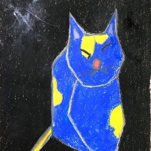 絵画 モダン アートパネル アート インテリア 雑貨 おしゃれ ロココロ 抽象画 現代アート 猫 ねこ ネコ 動物 アニマル  画家 : Mitsuo Ito 作品 : a cat|obeolysco
