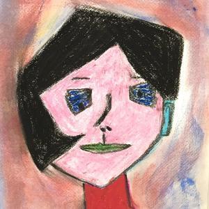 絵画 モダン アートパネル アート インテリア 雑貨 おしゃれ ロココロ 抽象画 現代アート  画家 : Mitsuo Ito 作品 : a girl|obeolysco