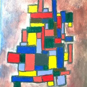絵画 モダン アートパネル アート インテリア 雑貨 おしゃれ ロココロ 抽象画 現代アート  画家 : Mitsuo Ito 作品 : THE WALL No.1|obeolysco