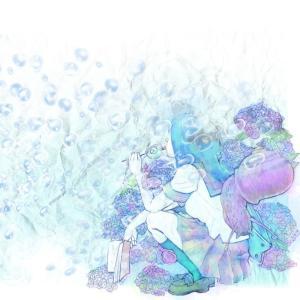 絵画 モダン アートパネル アート インテリア 雑貨 おしゃれ ロココロ 抽象画 現代アート イラスト 水 泡 画家 : 黄色いもみじ 作品 : 水の泡 obeolysco