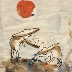 絵画 モダン アートパネル アート インテリア 雑貨 おしゃれ ロココロ イラスト 貝 貝殻 画家 : mycof  作品 :貝殻をあげる obeolysco