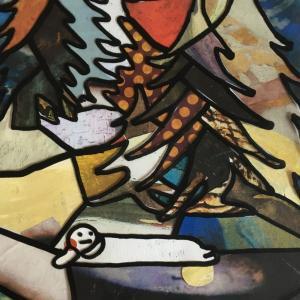 絵画 モダン アートパネル アート インテリア 雑貨 おしゃれ ロココロ イラスト 画家 : mycof  作品 : 今日は一日ここにいます obeolysco