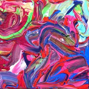 絵画 モダン アートパネル アート インテリア 雑貨 おしゃれ ロココロ 抽象画 画家 現代アート : ごま 作品 : s01|obeolysco