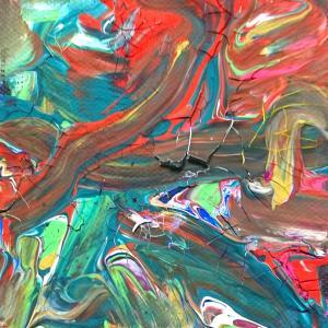 絵画 モダン アートパネル アート インテリア 雑貨 おしゃれ ロココロ 抽象画 画家 現代アート : ごま 作品 : s02|obeolysco