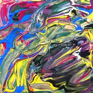 絵画 モダン アートパネル アート インテリア 雑貨 おしゃれ ロココロ 抽象画 画家 現代アート : ごま 作品 : s03|obeolysco