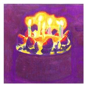絵画 モダン アートパネル アート インテリア 雑貨 おしゃれ ロココロ イラスト 絵 現代アート 画家 : なったこ  作品 : バースデーケーキ|obeolysco