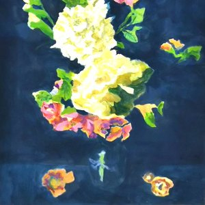 絵画 モダン アートパネル アート インテリア 雑貨 おしゃれ ロココロ イラスト 絵 現代アート 画家 : なったこ  作品 : 華2|obeolysco