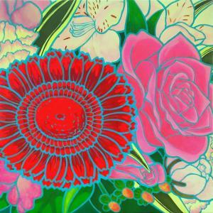 絵画 モダン アートパネル アート インテリア 雑貨 おしゃれ ロココロ 絵 油彩画 花 華 バラ 花束 画家 : なったこ  作品 : flowers|obeolysco