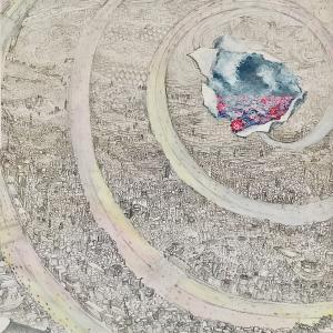 絵画 モダン アートパネル アート インテリア 雑貨 おしゃれ ロココロ 風景画 抽象画 色 抽象画 : MP 作品 : 無彩色 obeolysco